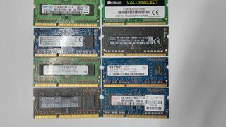 2 GB DDR3/L 1600-1333-1066 PORTATÍL MEMORIA RAM