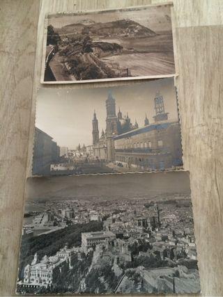 3 postales Antiguas años 50