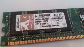 Memoria Ram DDR1 400mhz Kingston 512mb