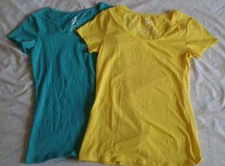 Camiseta turquesa y amarilla nuevas M