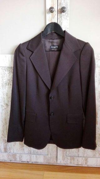 Traje marrón pantalón y chaqueta