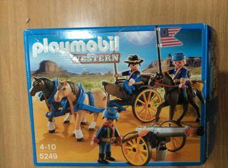 Solo la caja PLEYMOBIL Western .