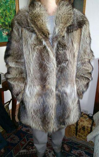 Abrigo de pelo de marmota