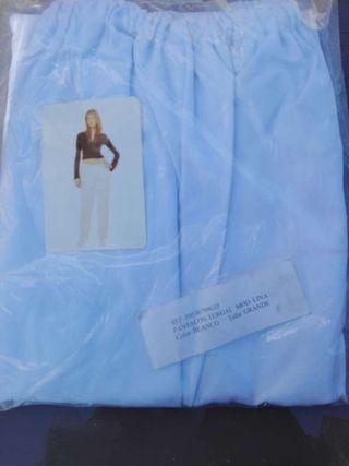 Pantalón de tergal blanco talla grande nuevo