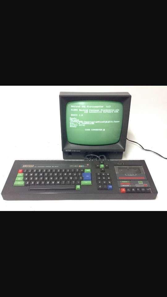 Ordenador CPC 464 Amstrad con monitor (verde). de segunda