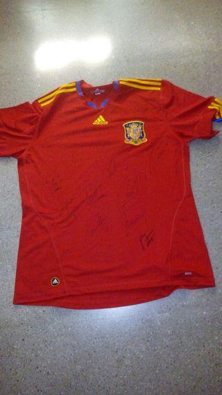 Camiseta firmada mundial 2010 españa