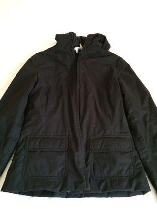 Cazadora Zara Negra Con Capucha