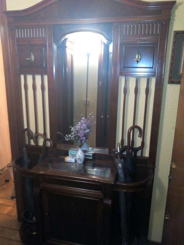 Mueble recibidor perchero y parag ero de segunda mano por 500 en cotos de monterrey en wallapop - Mueble perchero recibidor ...