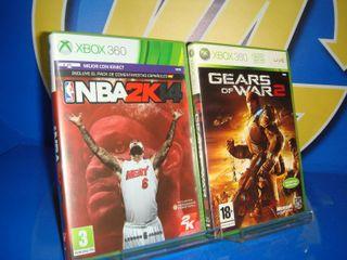 Dos juegos Xbox 360 gears of war 2 y nba2k