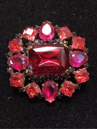 Broche Cristal Bohemia Rosa