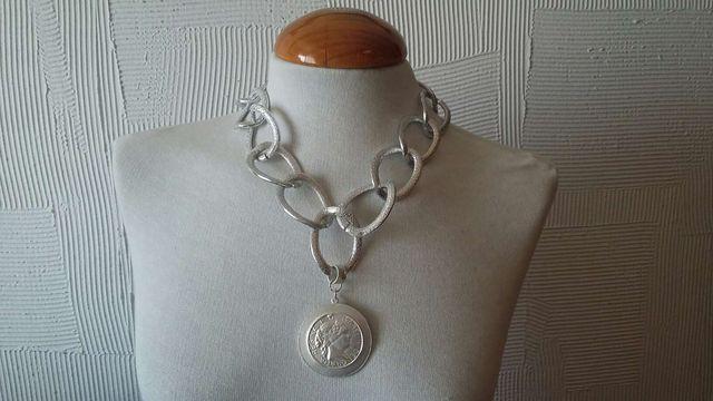 Collar cadena plateado NUEVO