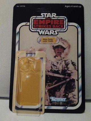 Blíster case Star Wars Kenner Han Solo ( The Empire Strikes Back).
