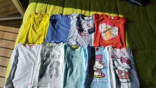 9 camisetas niña t18/24 mc