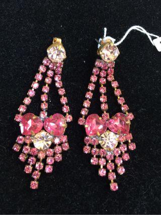 Pendientes Cristal Bohemia Rosa