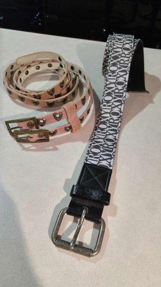 2 cinturones de chica marca Roxy
