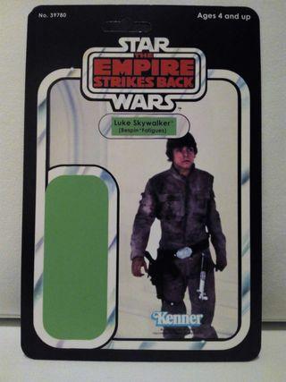Blíster case Star Wars Kenner Luke Skywalker Bespin Fatigues (The Empire Strikes Back)
