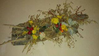 cortezas de arbol decor con flores