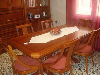 Mueble Comedor Boiserie Mesa Y 6 Sillas De Segunda Mano