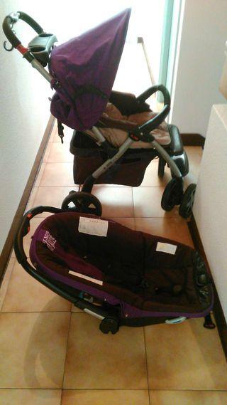 Conjunto para bebe ,carrito de paseo y silla para coche marca Nurse en buen estado,precio negociable.