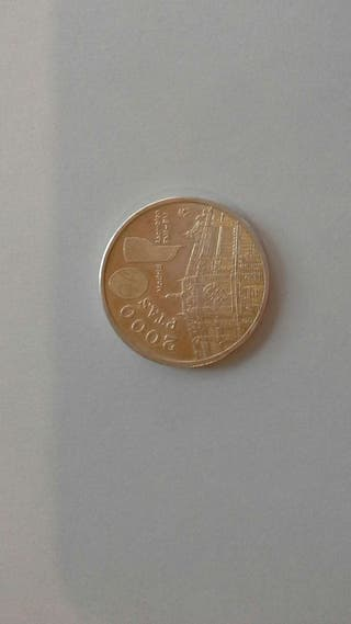 Moneda de 2000 pesetas de plata 1994.