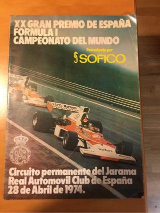 Programa Oficial GP ESPAÑA F1 1974