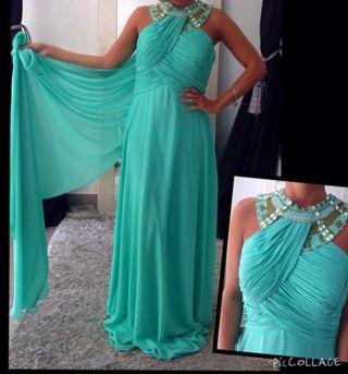 Vestido Largo Aguamarina