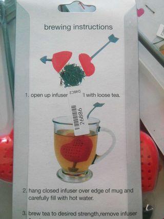 Infusor de té corazón