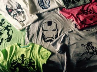 Camisetas Marvel, Star Wars, Etc