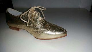 Bonitos 37 Nuevos número Estilo Zapatos Mano Por Oxford De Segunda TJcFlK1