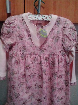 Vestido Voltereta, niña, talla 3.