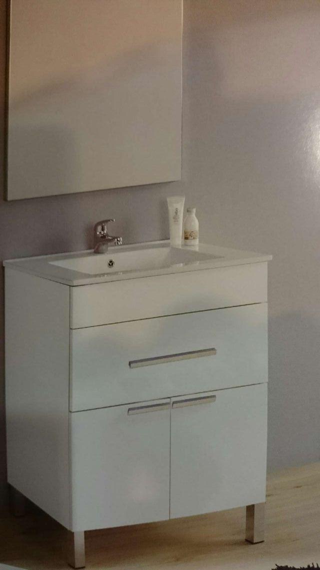 Conjunto mueble ba o encimera cer mica espejo liso de - Tu mueble barcelona ...
