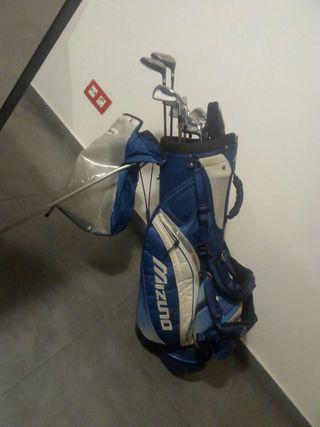 palos de golf mas bolsa seminuevos T-zoid