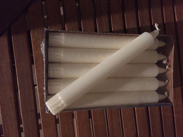 80 Velas blancas Ikea Jubla