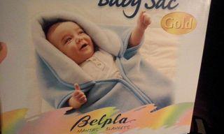 Sacó manta para bebé