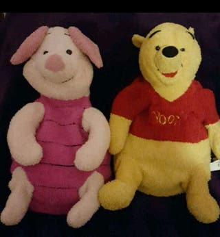 Cute 2 in 1 Winnie The Pooh & Piglet Hotwater Bottle Covers/Pyjama Cases.