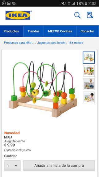 Juegos del ikea laberinto y carrito para construir