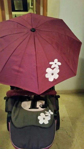 Carrito JANE RIDER. Con grupo 0, capazo, sillita de paseo, sombrilla, bolsa y plástico para la lluvia.