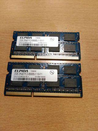 RAM 2x2gb ddr3 so-dimm