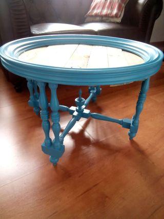 Mesa redonda restaurada