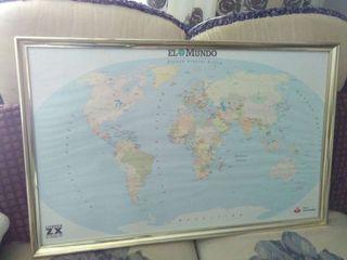 Cuadro del mapa mundo