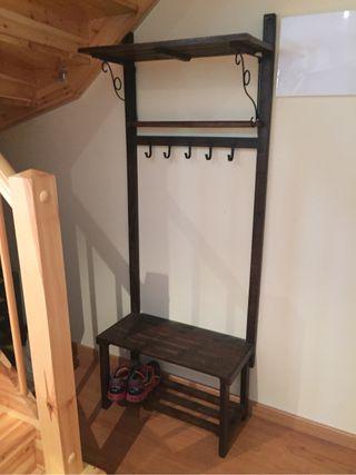 Mueble recibidor perchero de segunda mano por 130 en cabrils en wallapop - Mueble perchero recibidor ...