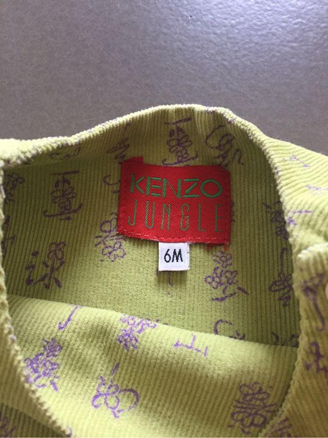 Robe 6 Mois Kenzo Velours 1000 Raies Imprimé