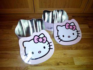 Cajas de metal de hello kitty