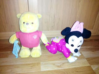 Winnie the pooh y minie andarines