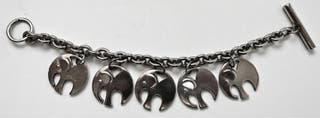 Bracelet Charm's Agatha Elephants.