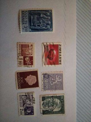 Lote de 7 sellos
