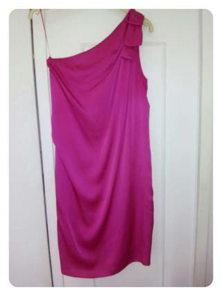 Vestido fiesta rosa fucsia talla 38