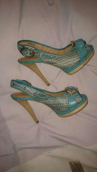 Zapatos turquesa NUEVOS 39