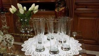 6 vasos de cristal de ikea