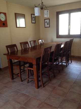 Mesa comedor 6 sillas de segunda mano por 700 en cabrils en wallapop - Wallapop mesa comedor ...